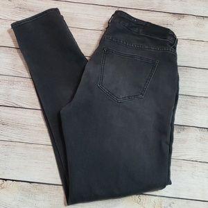 《&Denim》faded black jeans